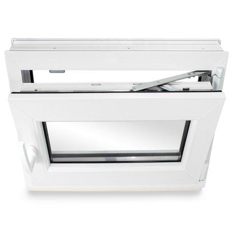 Premium BxH: 120x40 cm DIN Links Breite: 120 cm x H/öhe: Alle Gr/ö/ßen Dreh-Kipp-Funktion Kunststofffenster Kellerfenster Fenster 3-fach-Verglasung Wei/ß