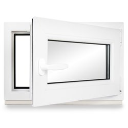 BxH:85x120 cm DIN Links Premium ALLE GR/Ö/ßEN Dreh-Kipp Fenster Kellerfenster Kunststofffenster wei/ß 3 fach Verglasung