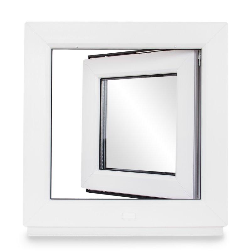Fenster Kellerfenster Kunststofffenster Breite: 55 cm Premium BxH: 55x70 cm DIN Links 2 fach Verglasung Alle Gr/ö/ßen Dreh Kipp Wei/ß