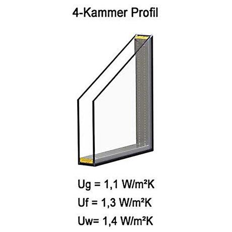 Kunststoff Fenster BxH: 70 x 60 cm 3-fach-Verglasung DIN rechts wei/ß Kellerfenster Lagerware