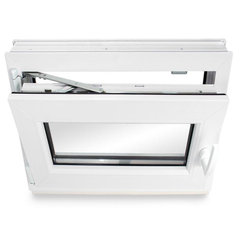 Dreh-Kipp BxH:75x75 cm DIN Links ALLE GR/Ö/ßEN Premium 3 fach Verglasung Fenster Kellerfenster Kunststofffenster wei/ß