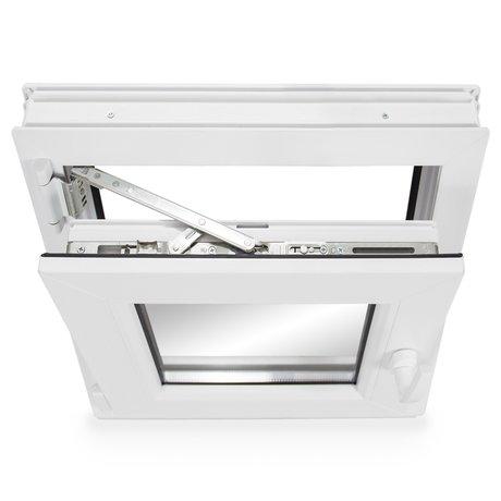 ALLE GR/Ö/ßEN Dreh-Kipp 2 fach Verglasung - Fenster wei/ß Kellerfenster Premium BxH:95x90 cm DIN Links Kunststoff PVC