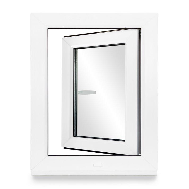 Dreh-Kipp 2 fach Verglasung Kellerfenster - Fenster ALLE GR/Ö/ßEN BxH:80x70 cm DIN Rechts Premium wei/ß PVC Kunststoff