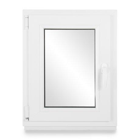 BxH: 65x45 cm DIN Links Kellerfenster Kunststofffenster Fenster Premium Dreh-Kipp 3-fach-Verglasung Wei/ß Breite: 65 cm x H/öhe: Alle Gr/ö/ßen