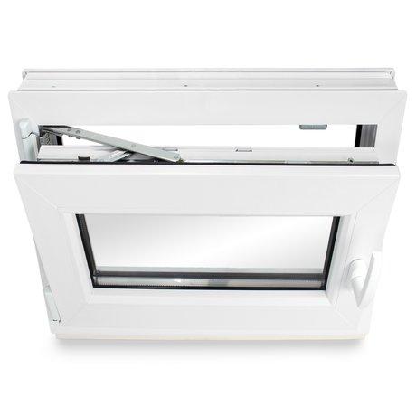 2-fach-Verglasung 60mm Profil Kunststoff BxH: 90x55 cm DIN links Kellerfenster verschiedene Ma/ße Fenster wei/ß schneller Versand
