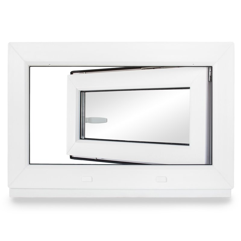 Kellerfenster Kunststoff Dreh Kipp 2-Fach BxH 95x45 cm 950x450 mm DIN rechts