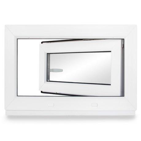 BxH: 70 x 70 cm 3-fach-Verglasung Lagerware Fenster Kellerfenster DIN rechts Kunststoff wei/ß