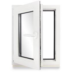 - Fenster Kunststoff PVC Premium 2 fach Verglasung Kellerfenster Dreh-Kipp BxH:90x60 cm DIN Rechts ALLE GR/Ö/ßEN wei/ß