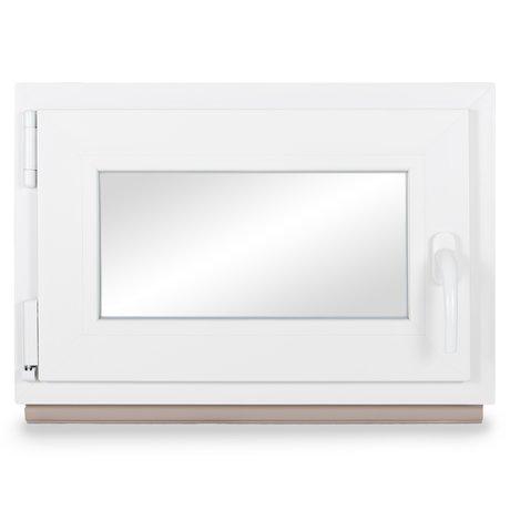 Fenster Kellerfenster Kunststofffenster Breite: 75 cm BxH: 75x45 cm DIN Links Premium 2 fach Verglasung Alle Gr/ö/ßen Dreh Kipp Wei/ß