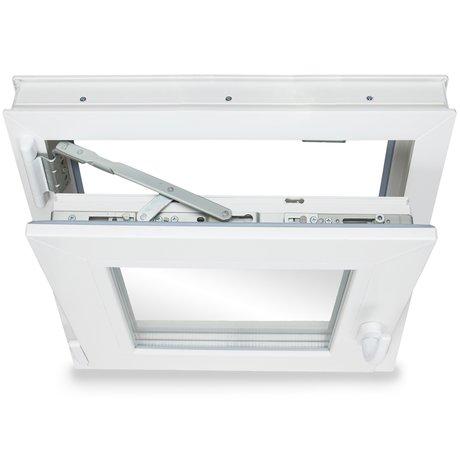 Fenster Kellerfenster Kunststofffenster Breite: 75 cm BxH: 75x90 cm DIN Rechts Premium 2 fach Verglasung Alle Gr/ö/ßen Dreh Kipp Wei/ß
