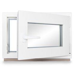 BxH: 95x55 cm DIN Links Fenster Kellerfenster Kunststofffenster Breite: 95 cm 2 fach Verglasung Alle Gr/ö/ßen Dreh Kipp Wei/ß Premium