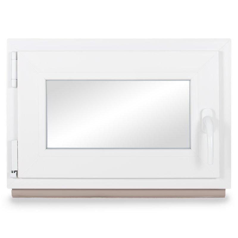 verschiedene Ma/ße BxH: 65x90 cm Kellerfenster Kunststoff wei/ß schneller Versand 60mm Profil DIN rechts Fenster 3-fach-Verglasung