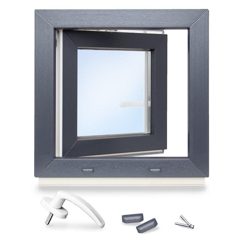 1flg Fenster Bergkiefer Innen und Außen Dreh Kipp Kunststofffenster