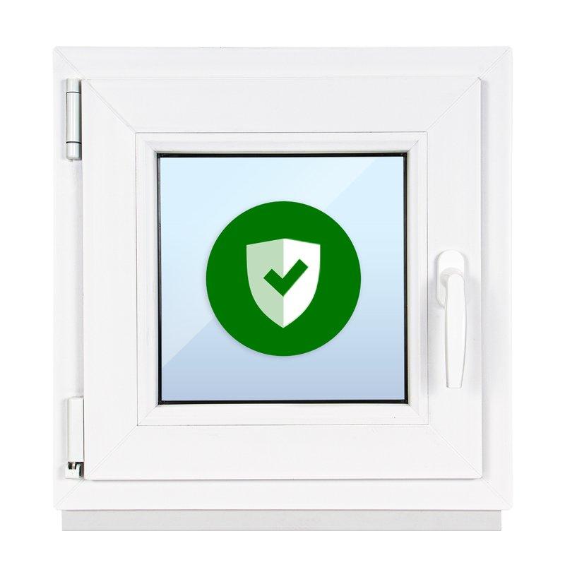 Kellerfenster Kunststoff Dreh Kipp  2-Fach BxH 60x55 cm 600x550 mm DIN links